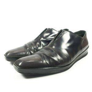Prada Leather Laceless Oxford Shoes